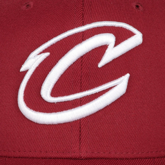 58bc33953a086 110 Burgundy Cavs Cap by Mitchell   Ness - bordeaux 1 ...