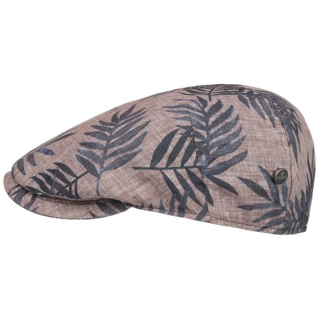 Lierys Hawaii Flatcap Schirmm/ütze Schieberm/ütze Leinencap Herren Made in Italy mit Schirm Futter Fr/ühling-Sommer